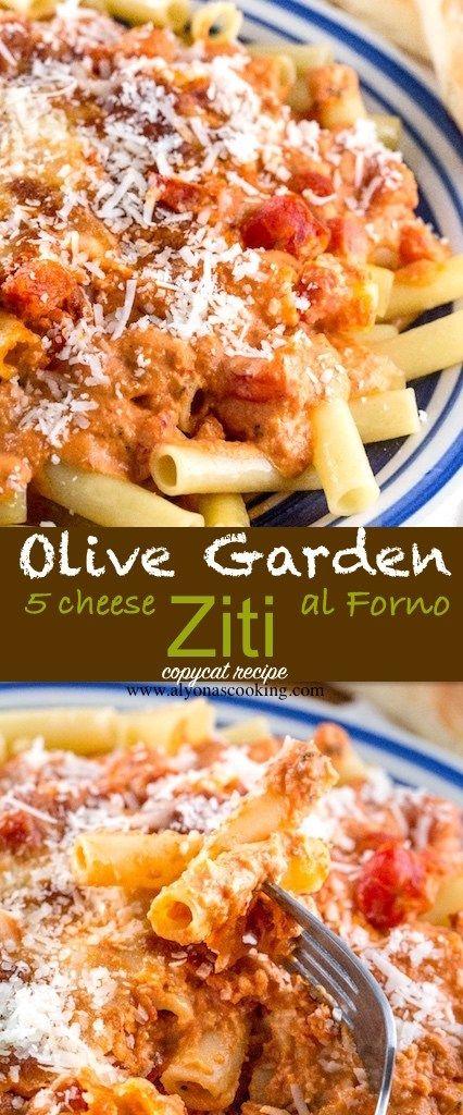 Olive Garden Five-Cheese Ziti al Forno (Copycat