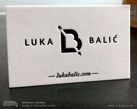 Hochwertige Visitenkarten Mit Prägung Letterpress Business
