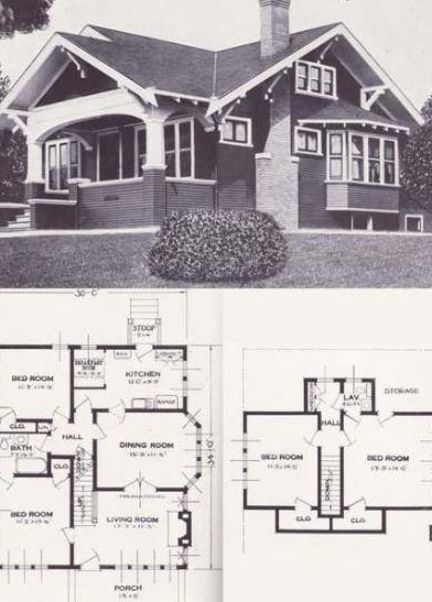 Pin By Veronica Kalashnik On Home Build Craftsman House Plans Vintage House Plans Craftsman House