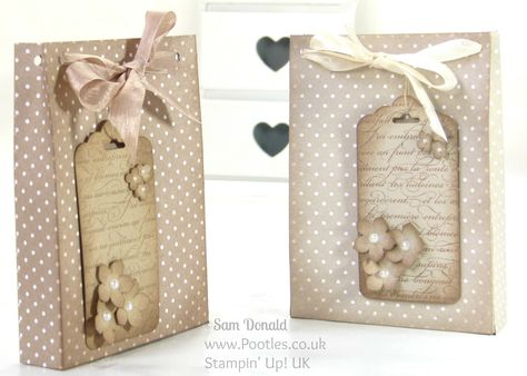 Aged Paper Bag Tutorial using Stampin' Up Designer Series Paper