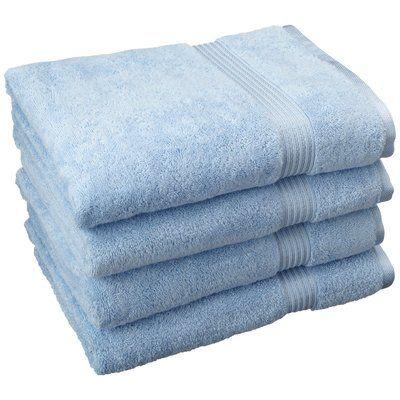 The Twillery Co Patric 4 Piece Egyptian Quality Cotton Bath Towel Set Color Light Blue Bath Towel Sets Bath Towels Towel Set