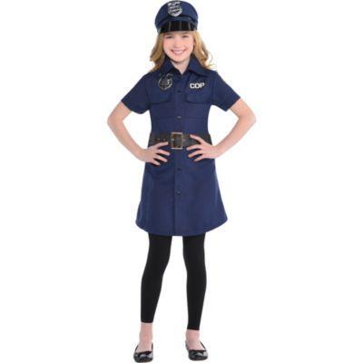 Child Cop Dress Kids Dress Robber Fancy Dress Police Costume