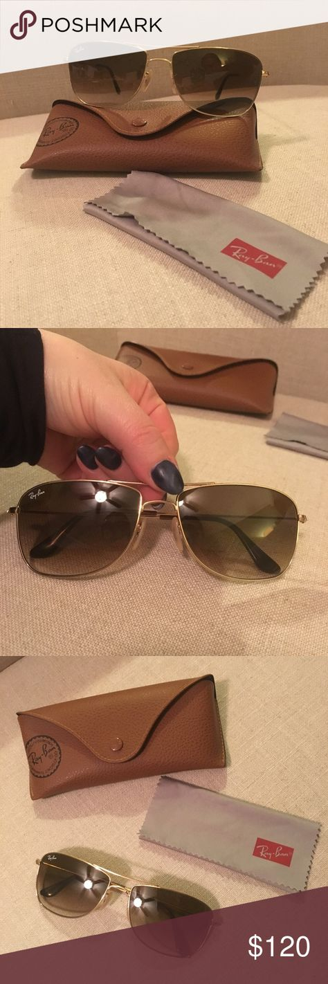 ef959d56c8 Authentic Ray Ban Aviator Sunglasses 3477 001 51 Beautiful Gold Frame .