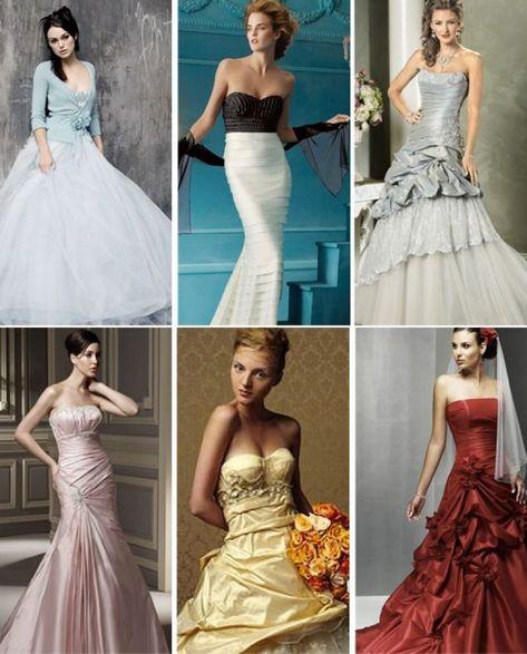 Elegant Second Wedding Dress Color Colored Dresses