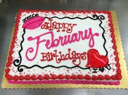 Happy February Birthday Birthday Sheet Cakes Cake Cake Writing