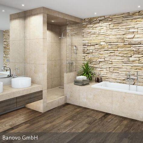 Modernes Bad Mit Großem Waschtisch Und Badewanne | Minibagno Bäder