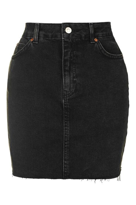 MOTO High Waisted Denim Skirt - Topshop