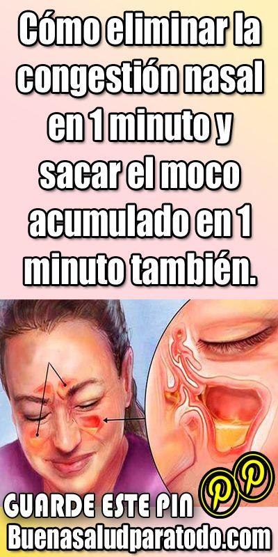 Congestión nasal en la garganta