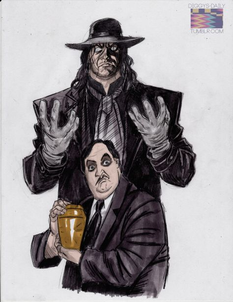 The Undertaker & Paul Bearer by Ron Ackins