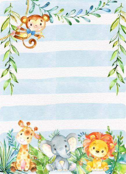 Invitación de Baby Shower del muchacho, selva Baby | Zazzle.es