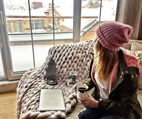 Fuchsia Cotton Chunky Blanket – Raspery