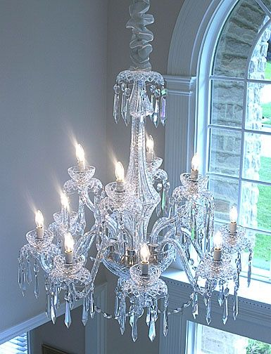 Waterford Crystal Powerscourt 12 Arm Crystal Chandelier