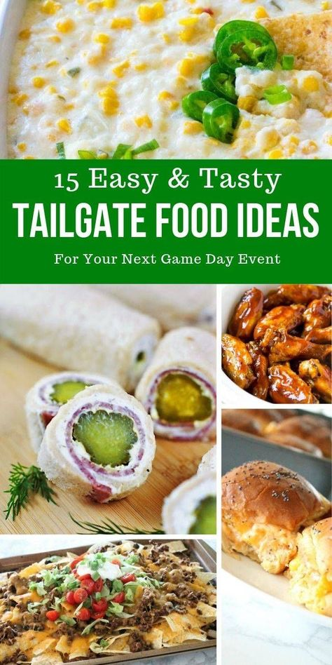15 Easy Tailgate Food Ideas for Game Day - Passion For Savings #tailgatefood Check out these easy tailgate food ideas to bring to your next tailgating event. Tailgating ideas that will take your party to the next level. #tailgating #food #recipes #appetizers #gameday #party #fingerfoods #easy #fast #tasty