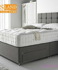 Grey Small Double Bed With Storage Headboard 100 Grantee
