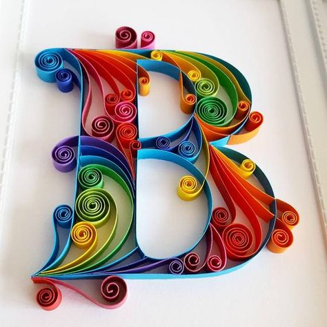 Quilled Paper Art Monogram Personalized Gift 3D Paper Art | Etsy