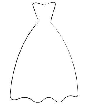 Image Result For Wedding Dress Printable Templates Dress Templates Wedding Dress Template Wedding Dress Silhouette,How To Dye A Wedding Dress Purple