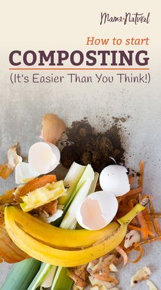 Composting is the best way to grow healthy, nutritious, safe food for our families. But isn't that just code for cow poop? You can make your own compost at home, with mostly kitchen scraps and yard waste. Here's more about the benefits of composting How To Start Composting, Composting At Home, How To Make Compost, Worm Composting, Compost Barrel, Compost Soil, Garden Compost, Garden Soil, Compost Bucket