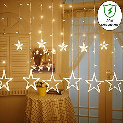 Amazon Com Ucharge Star Curtain Lights 8 Modes 29v With 12