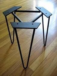 Industrial metal table legs set of 4 dining table coffee table image result for hairpin legs australia watchthetrailerfo