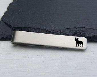 French Bulldog Tie Clip