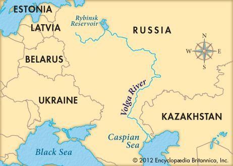 25 Feb 2008 The Volga River flows through southwestern Russia into - fresh world map in russian