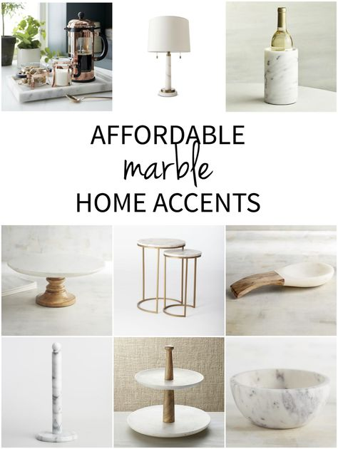 Affordable Marble Home Decor - The Chronicles of Home