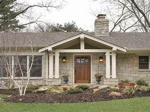 Ranch Style Front Porch Decks Brick Ranch Front Porch Ideas House