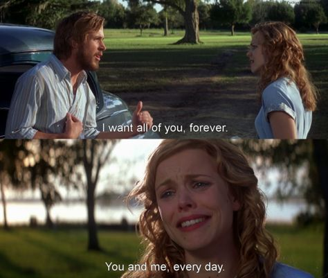 the notebook. The hopeless romantic part of me dies every time at this part! The Notebook Scenes, The Notebook Quotes, Noah From The Notebook, Forrest Gump, Sad Movies, Movie Tv, Romantic Movie Quotes, Chick Flicks, Nicholas Sparks