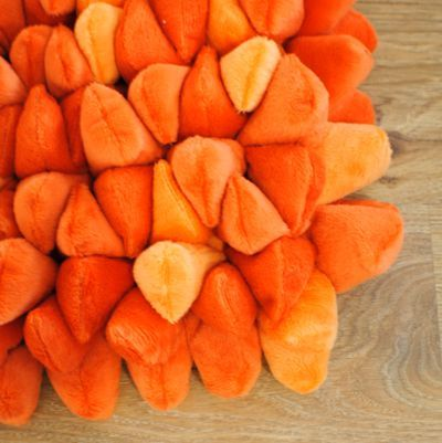 Dreamweavers Orange Chamois Pebble Rug