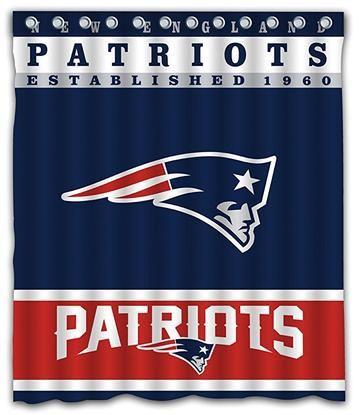 Patriots Football Team Striped Flag Shower Curtain Patriots