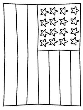 US Flag Coloring Page - Free Printable - AllFreePrintable.com | 362x274