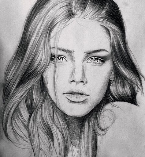 Sketch of a girl in pencil #sketch #art #pretty #gorgeous #drawing #hair #girl #woman #makeup