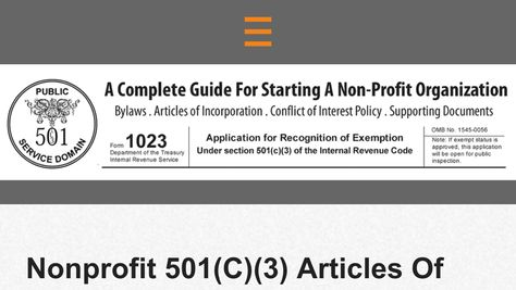 Nonprofit 501(C)(3) Articles Of Incorporation Sample, How To Write - articles of incorporation template free