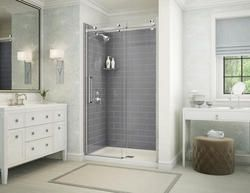Maax Utile Metro 48 Ash Grey And Halo Shower Kit With Images
