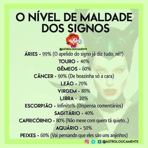 O Nivel De Maldade Dos Signos Aries Touro Gemeos Cancer Leao