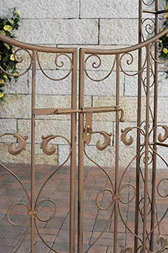 Clp Arche De Jardin Avec Portillon Sina Arceau De Jardin Romantique En Fer Forge Support Pour Plantes Grimpantes Avec Porte Style Shabby Chic Couleur Ma
