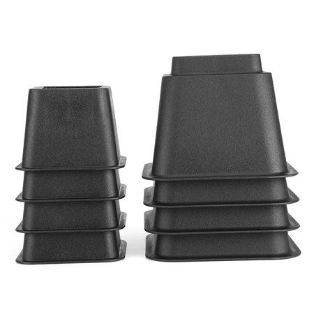 Home Improvement Bed Risers Bed Lifts Black Bedding
