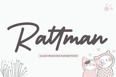 Rattman (Font) by Balpirick · Creative Fabrica