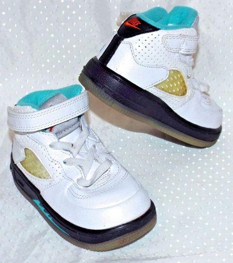 aeffa975d050 Baby Boys Nike Shoes Shoe Size 6 GIRLS Toddler Retro V Five 5 EEEUC Kids  Childs