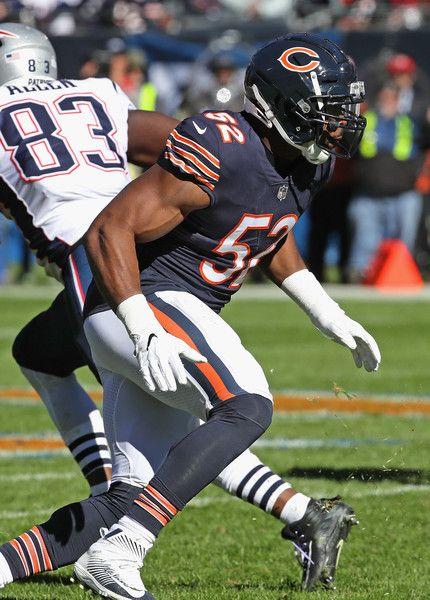 Khalil Mack Photos Photos New England Patriots Vs Chicago Bears Chicago Bears Chicago Bears Football New England Patriots Merchandise