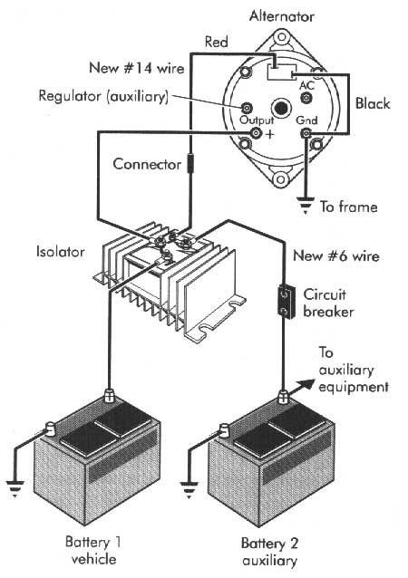 battery isolator diagram | airstream technical | pinterest, Wiring diagram