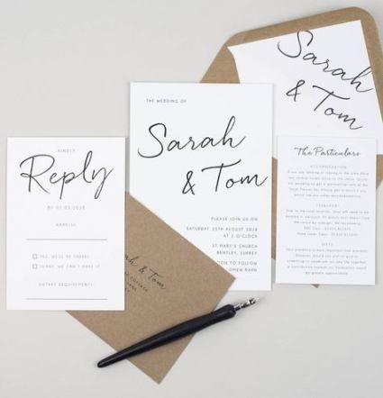 52 Ideas Wedding Invitations Wording Byob Fun Wedding Invitations Wedding Invitations With Pictures Minimalist Wedding Invitation Design