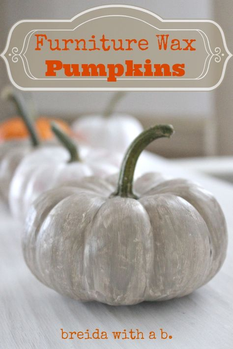 Paint Your Pumpkin and Wax It Too {furniture wax for pumpkins}