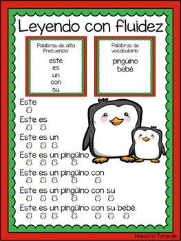 Oraciones De Fluidez Pinguinos Spanish By Maestra Jaramillo Teachers Pay Teacher Spanish Classroom Activities Classroom Activities Classroom Management