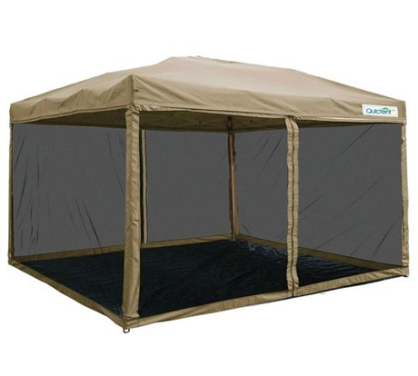 10 X10 Pop Up Canopy With Netting Screen Mesh Sides Tan Screen House House Tent Screen Tent