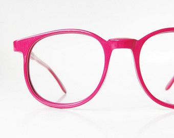 9ca7b1035 Clear Pink Round Eyeglasses 1980s Bubblegum Light Pastel Clear See ...