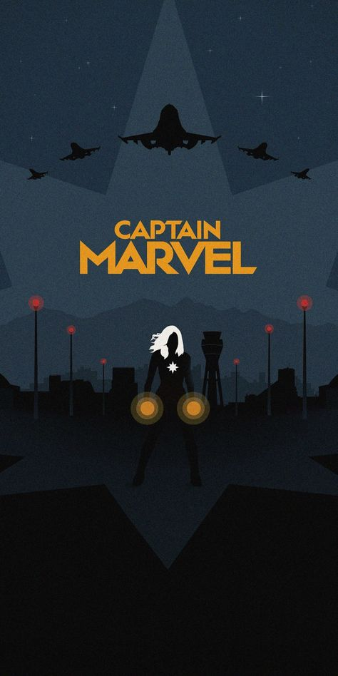 Captain Marvel, minimal, poster, 1080x2160 wallpaper