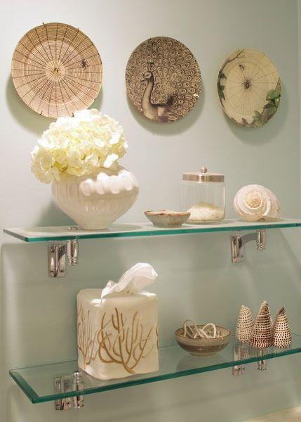Home Decor, Decorative Glass Shelves Bathroom