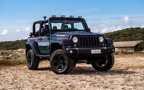 Download Wallpapers Jeep Wrangler 2018 Police Suv Exterior Italian Police Police Car Carabinieri Jeep C Jeep Wrangler New Jeep Wrangler Jeep Wrangler Jk