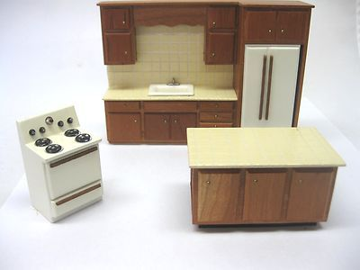 Vintage Dollhouse Miniature Artisan Half Scale 1/24 Kitchen Set by ...